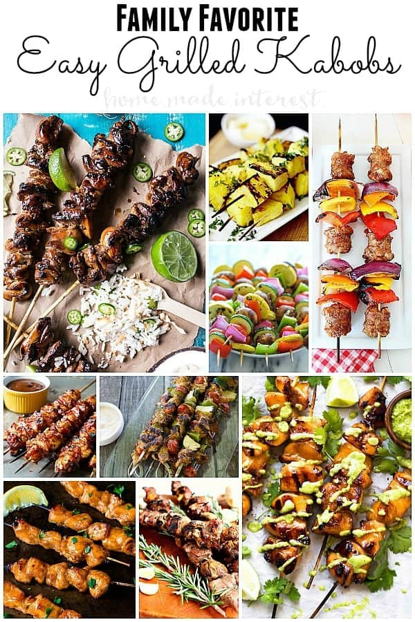 Summer family favorite grilled kabob recipes. Easy clean up and perfect for small gatherings or party's.