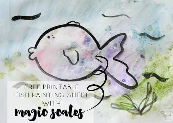 Print out this coloring page and watch the scales on the fish magically appear as your kids paint it! The kids will LOVE this easy craft!