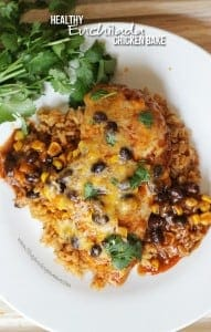 Healthy Enchilada Chicken Bake - Seriously delicious dinner idea!