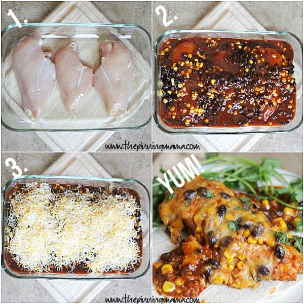 Healthy Enchilada Chicken Bake 6w