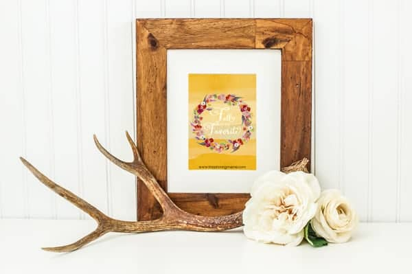 Fall is my Favorite - Free Watercolor Printable decor
