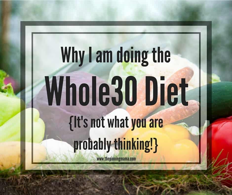 Why I am doing the Whole30 food challenge. It's not what you think!