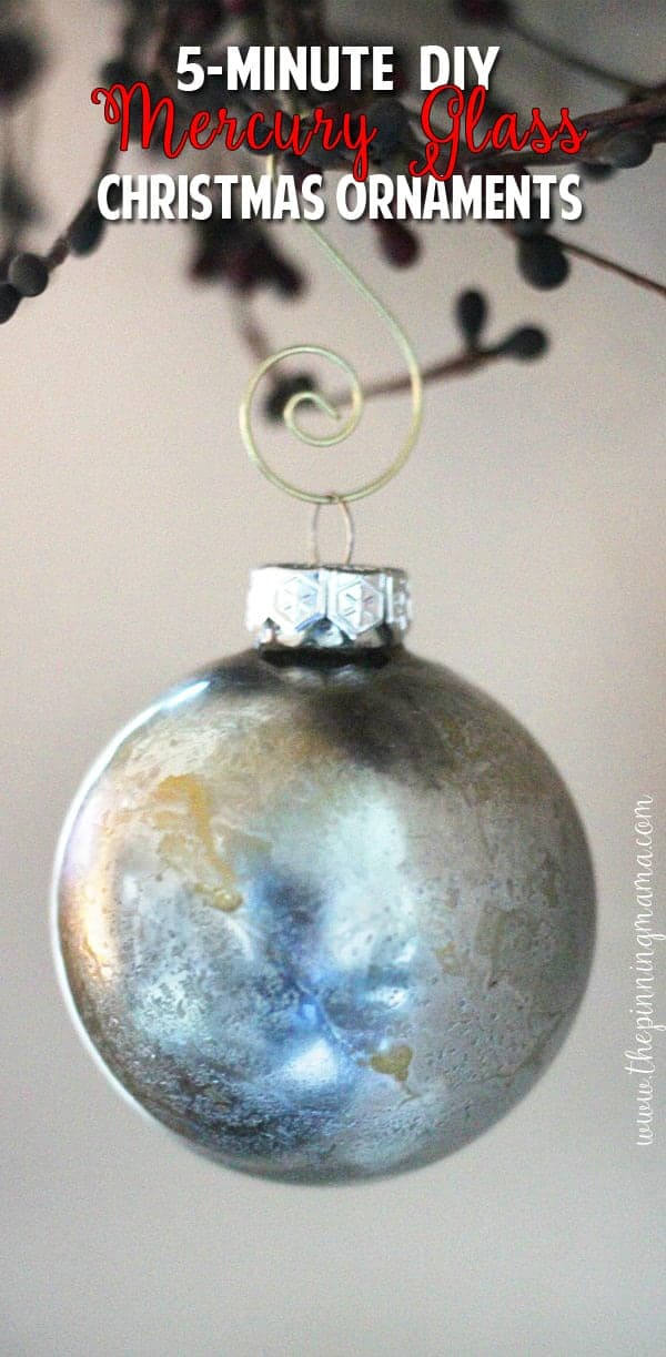 These DIY Mercury glass ornaments are STUNNING! I can't believe they are homemade, much less that easy to make. My Christmas tree is about to get about 100 of these!