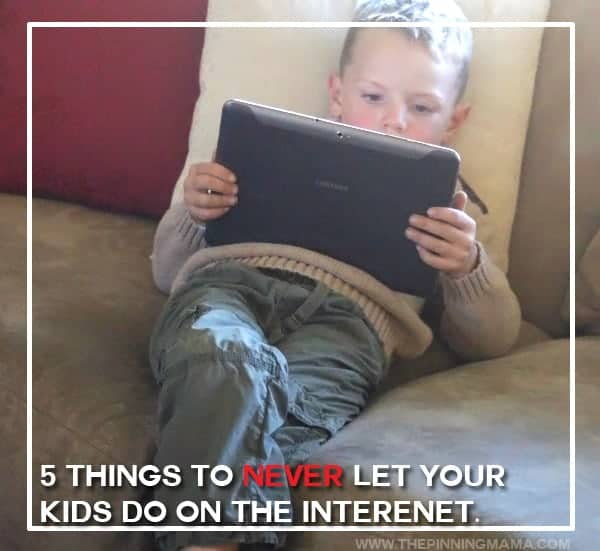 Number 2 is something I wasn't doing, but will be now!  5 ways to keep your kids safer on the internet!