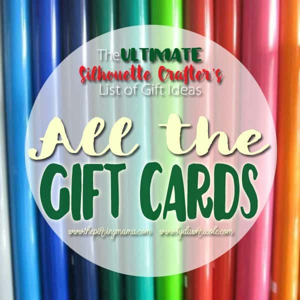 Gift cards to every store crafters love.  This list has it all and is perfect to send to friends and family for gift ideas!!