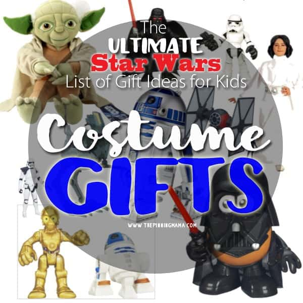 My kids love to play dress up!  I am adding Star Wars costumes to my Christmas list this year!