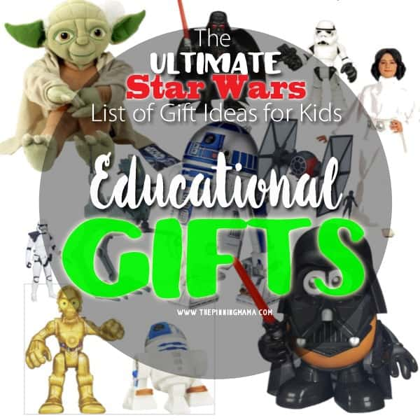 I am so impressed! This list of Star Wars Gift ideas has EVERYTHING!  There are even some great educational gift ideas.  Who knew?!  My kids will love this!