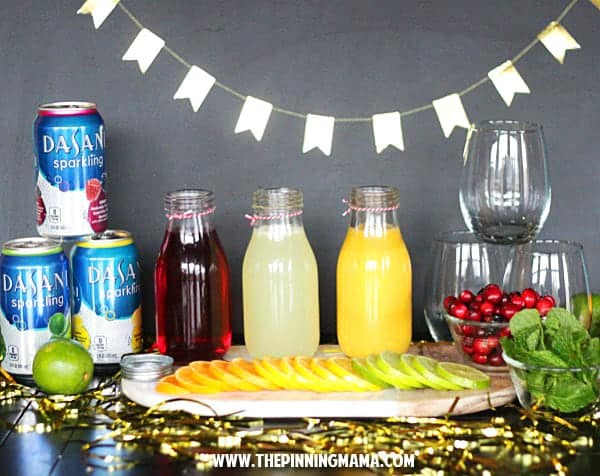 A fun way to set up a juice bar for a brunch or shower!