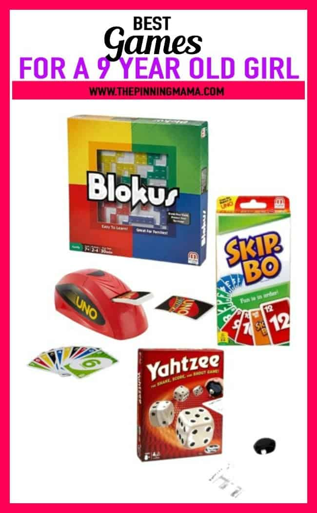 Best Gift Ideas for a 9 year old who loves games- includes blokus, card games, and yahtzee