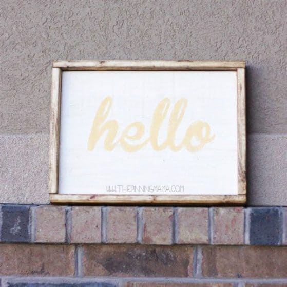 Hello Wood SIgn - Super cute for front door!