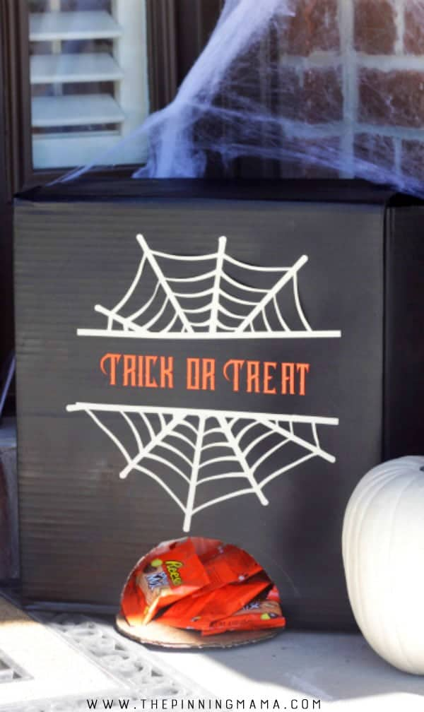 How to give out candy to trick or treaters on Halloween when you are not home.