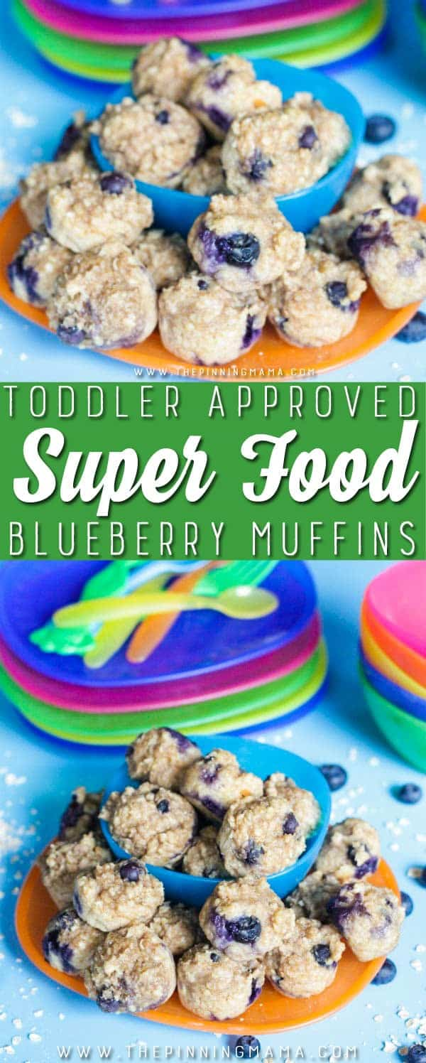 Easy- Healthy - Tasty toddler super food muffins! These have 6 super foods in them and are dense rich and my kids LOVE them!