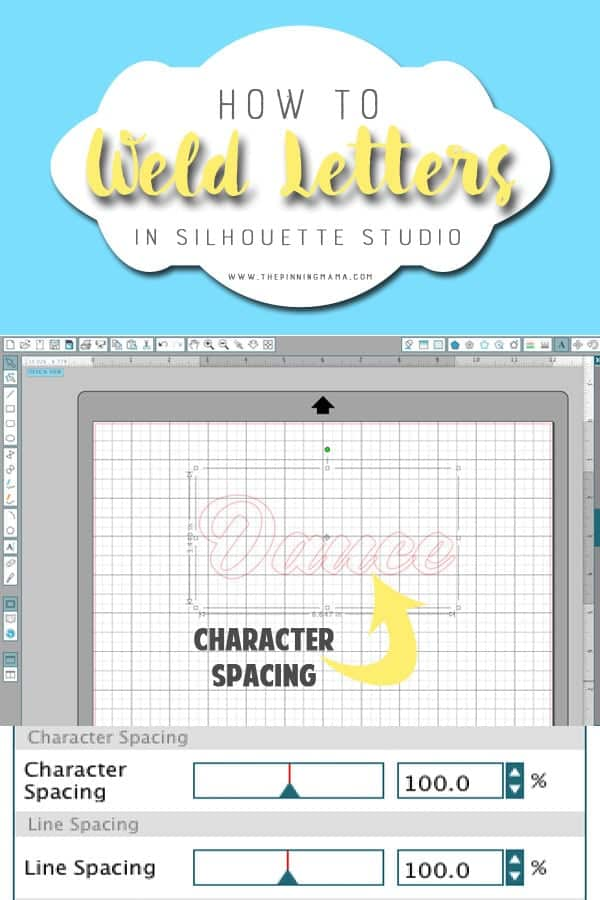 How to change the spacing between the letters in a word in Silhouette Studio. Great for making custom crafts with your Silhouette CAMEO and Portrait.