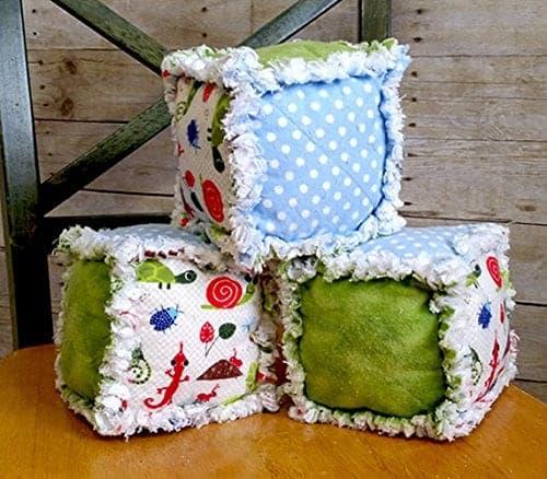 10+ Beautiful Handmade Baby Gifts: Soft Baby Blocks  www.thepinningmama.com
