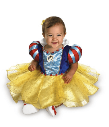 10+ Cutest Halloween Costumes for Baby Girl : Snow White | www.thepinningmama.com