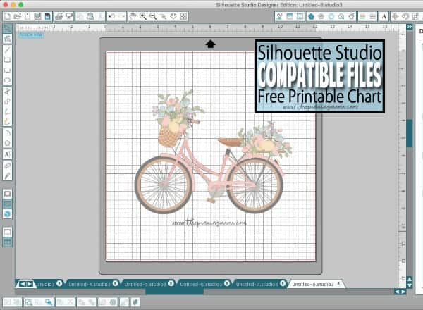 Compatible File Types for Silhouette CAMEO - Grab the free printable reference chart file for files that work in Silhouette Studio