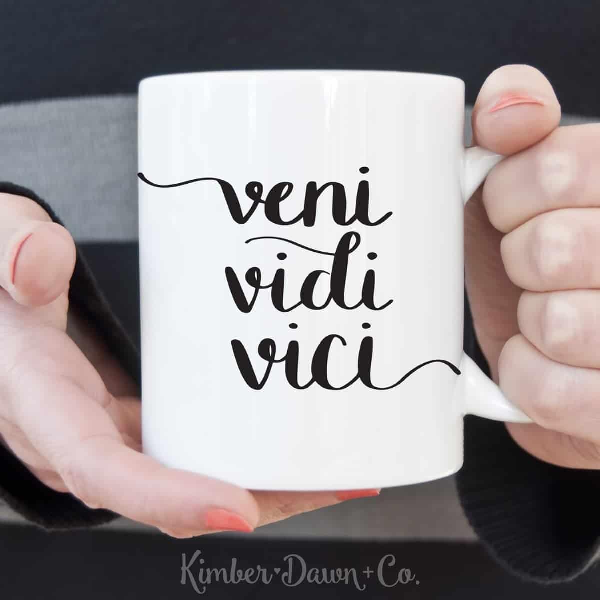 Veni Vidi Vici - Free Cut File for Silhouette CAMEO + Cricut crafts
