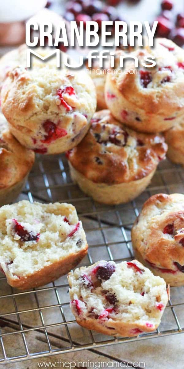 This is the BEST breakfast recipe! Fresh cranberry muffins are absolutely my favorite holiday breakfast. We make these at least 3 times every winter!