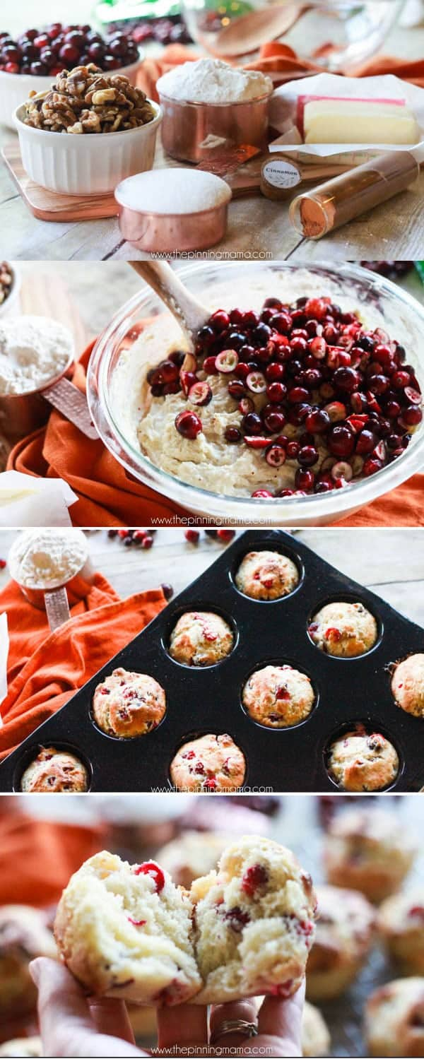 Fresh Cranberry Muffin Recipe - These are TO DIE FOR! Perfect for Thanksgiving day breakfast or to serve with dinner. Everyone will rave and ask for the recipe for these!