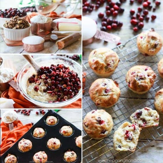 We HAVE to make these fresh cranberry muffins every Thanksgiving. Absolutely the best way to eat cranberries. Sweet, soft, with a little tang. YUM!