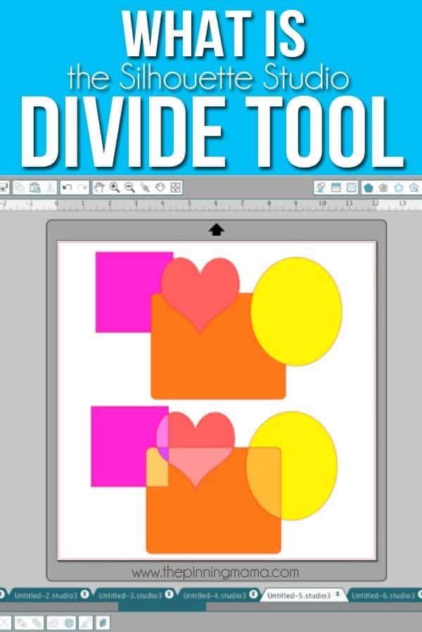 Who- What- When- Where and WHY to use the Divide tool in the Silhouette Studio software