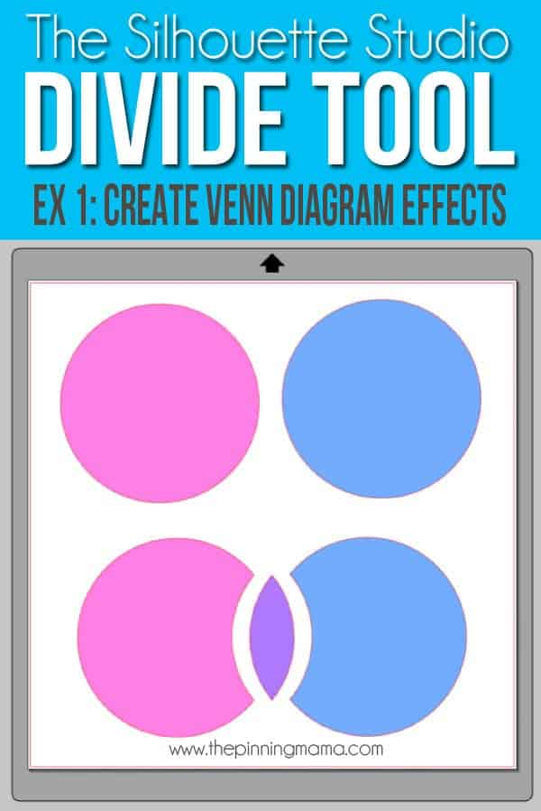 Use the Divide tool to make a venn diagram effect with Silhouette Studio