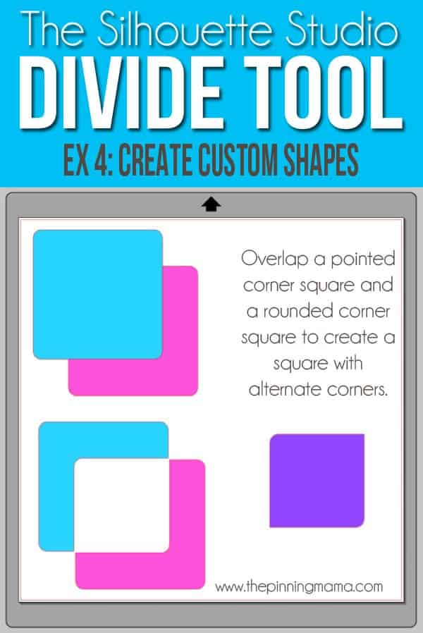 Use the Divide tool to create custom shapes in SIlhouette Studio