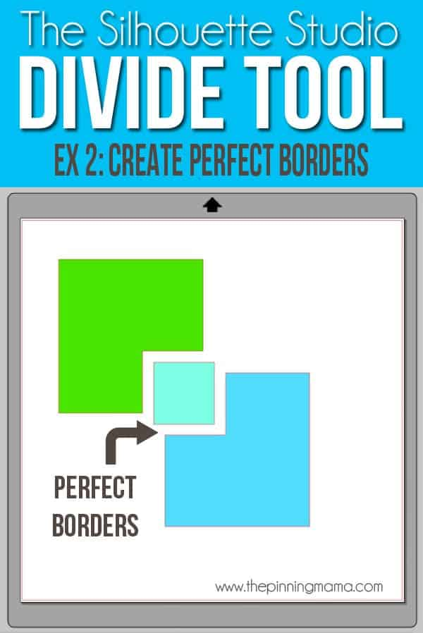 Use the Divide tool to create perfectly spaced borders around designs