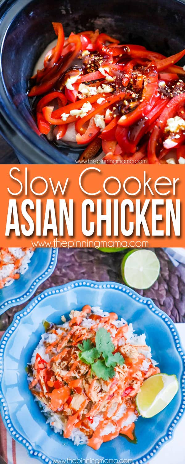MUST MAKE!! Crock Pot Asian Chicken Recipe - serve these topped with teriyaki sauce and spicy mayo for a delicious and easy weeknight dinner!
