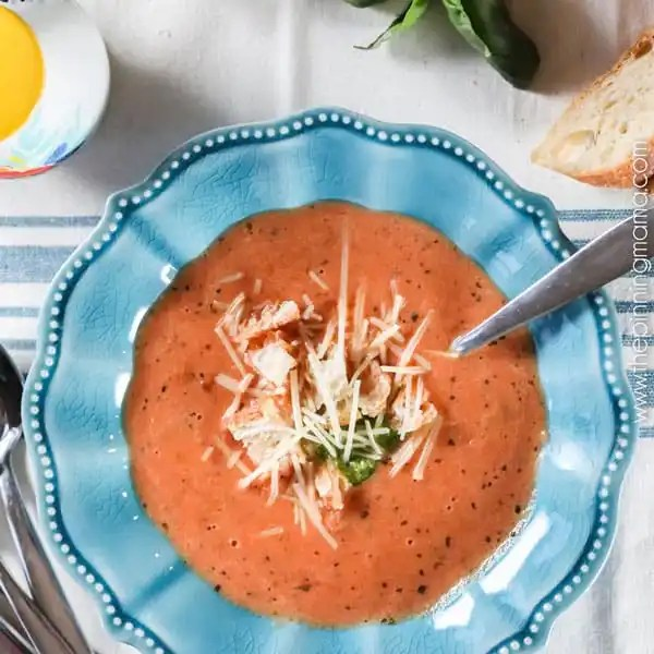 Instant Pot Creamy Tomato Soup, by The Pinning Mama