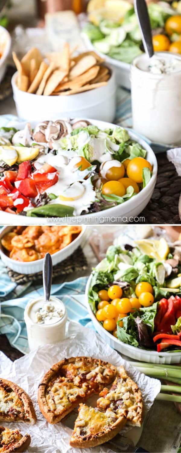 Best Creamy Gorgonzola Salad Dressing Recipe on a Salad