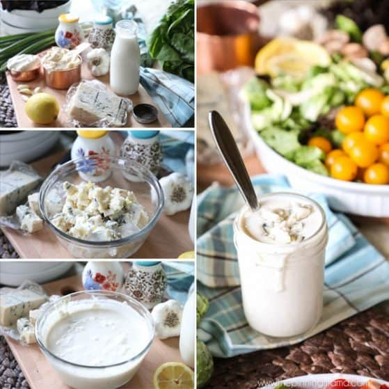 Step by Step How to make Creamy Gorgonzola Dressing