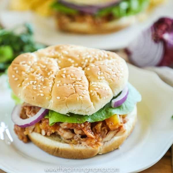 Quick dinner Hawaiian Chicken Sandwich