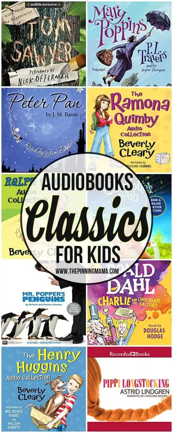30 Classic Audio Books For Kids - The Pinning Mama