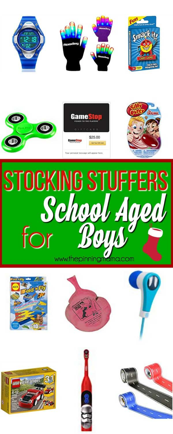 Big List of Stocking Stuffers for School Aged Boys