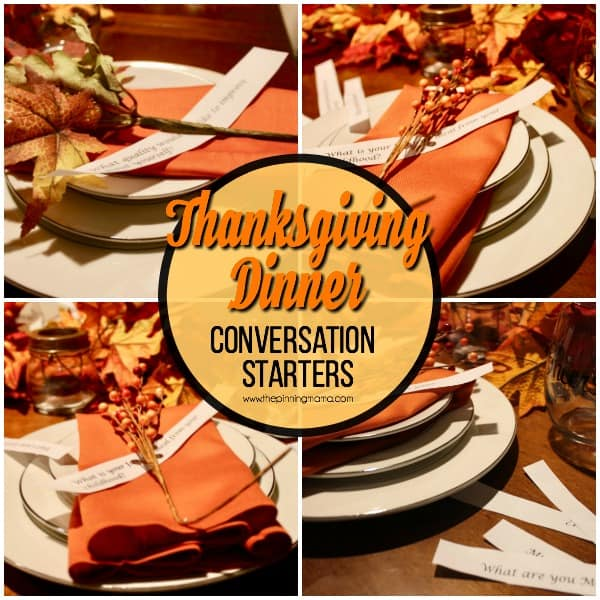 conversation starters for your Thanksgiving Dinner table
