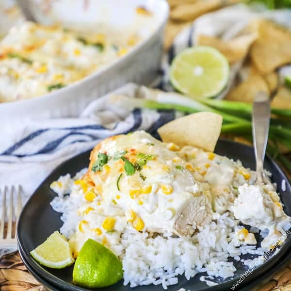 Fiesta Chicken with Lime served with rice