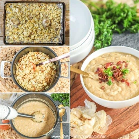 Step by Step Whole 30 Cauliflower Soup