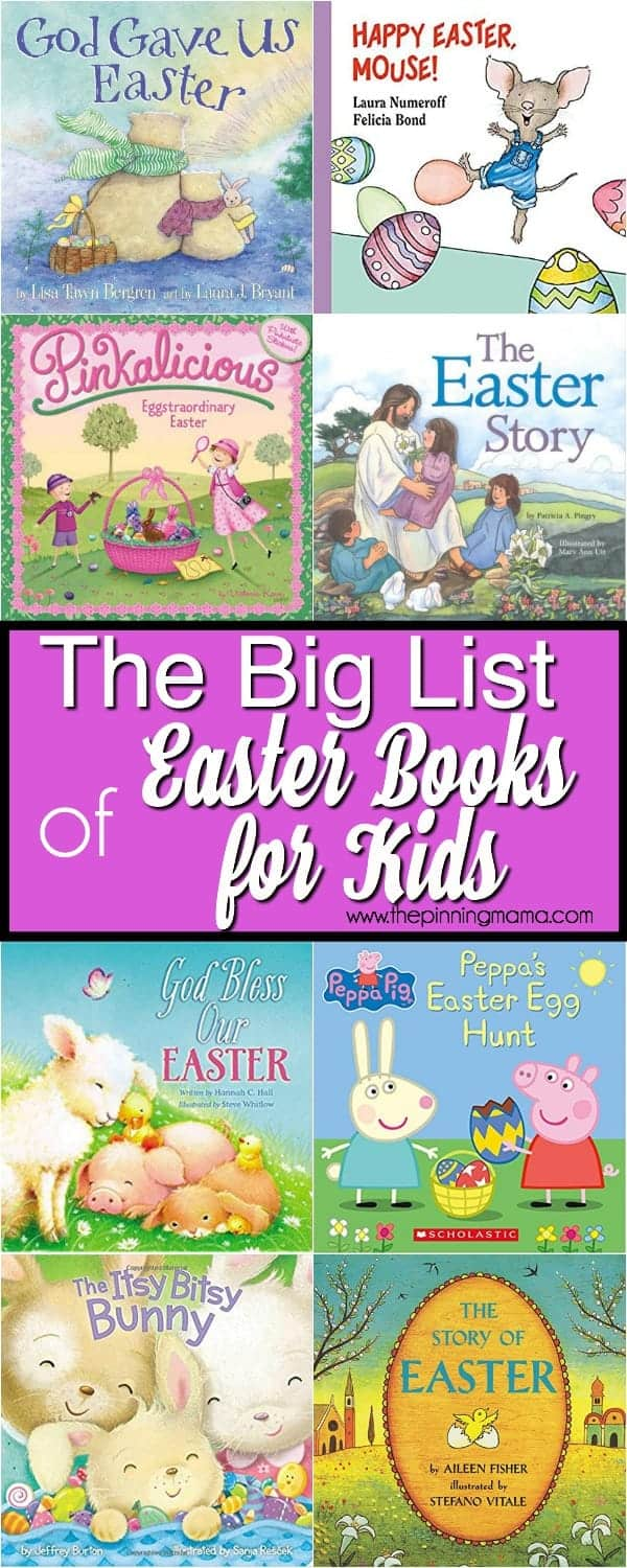 The Ultimate list of Easter Books for kids, Religious and non Religious.