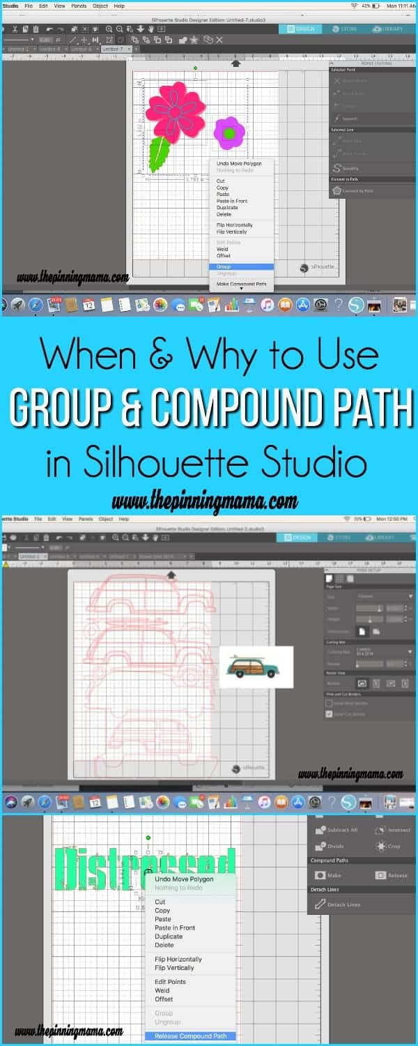 When & Why to Use Group & Compound Path in Silhouette Studio