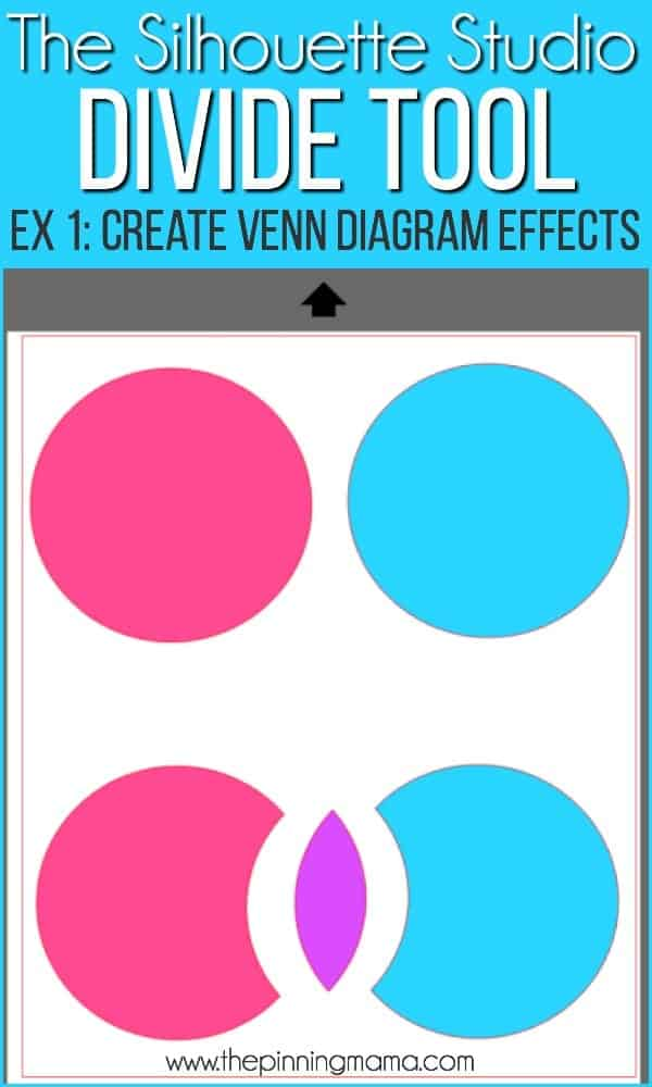 Create Venn diagram effects using the design tool in Silhouette Studio.