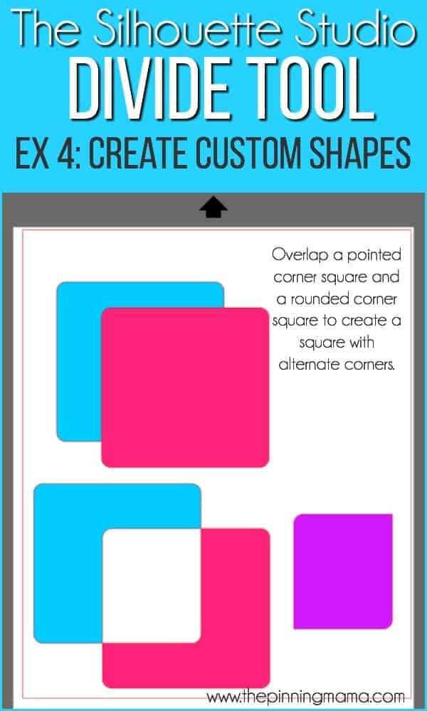 Create custom shapes using the divide tool.