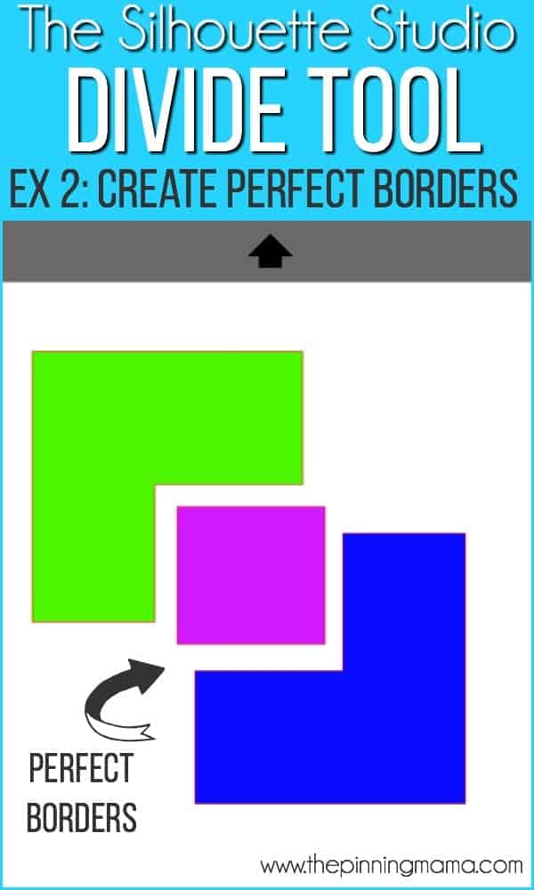 Create perfect borders using the divide tool in Silhouette studio.