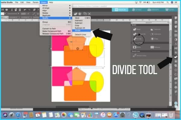 Where to find the Divide Tool.