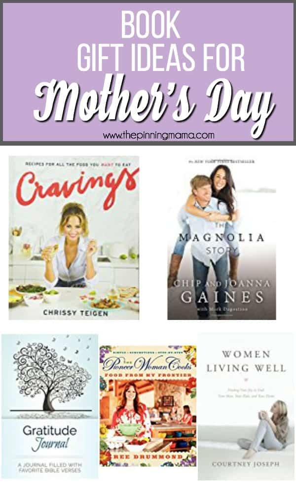 Book gift ideas for Mother's Day.