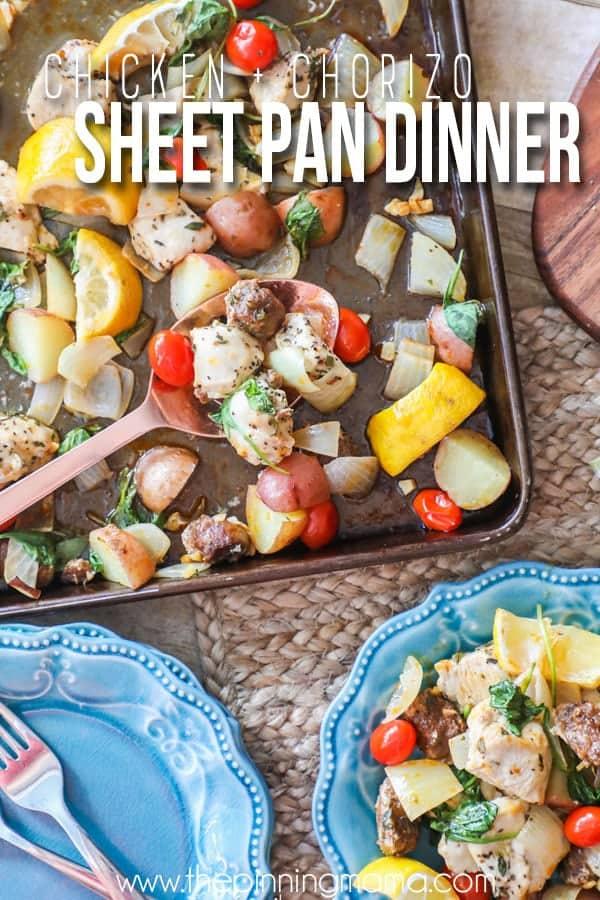 Easy SHeet Pan Dinner idea- SO GOOD!