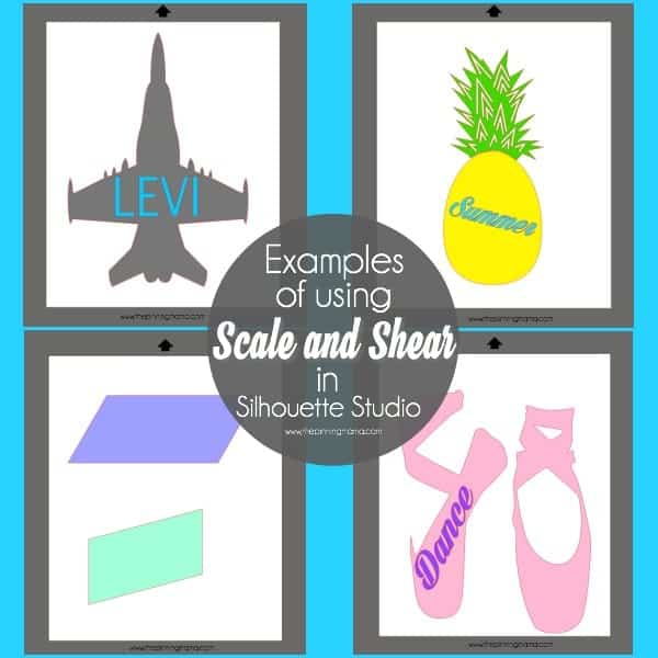 Examples of using Scale and Shear in Silhouette Studio.