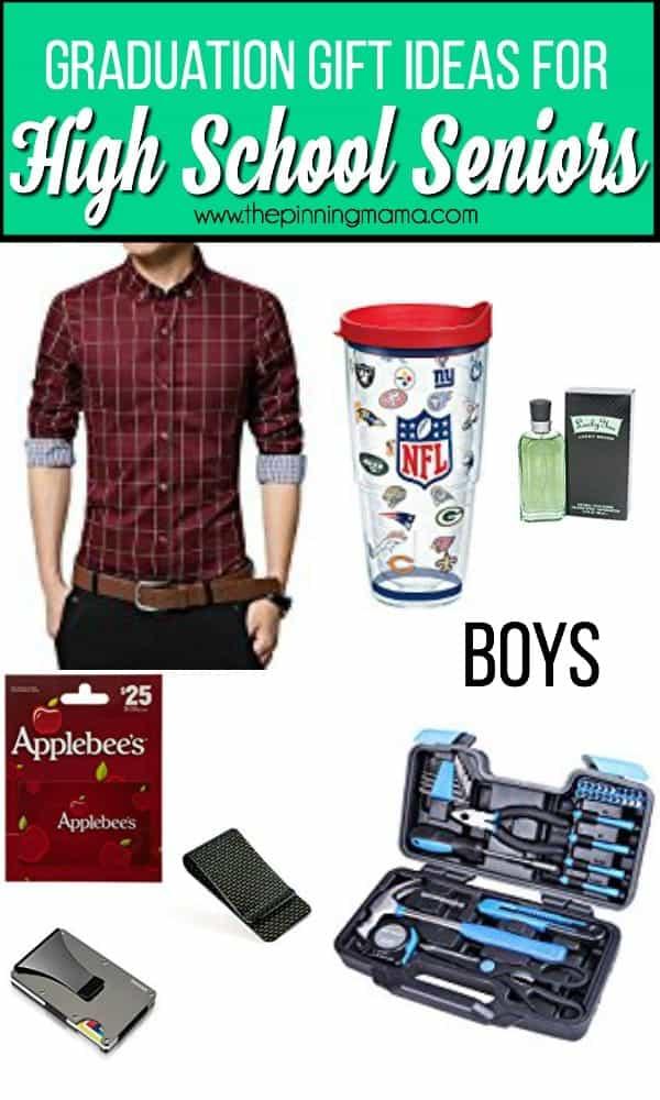 Graduation gift ideas for high school senior Boys.