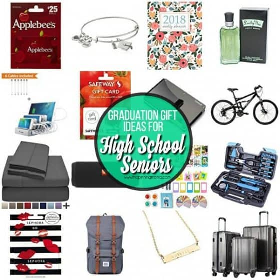 The big list of Graduation gift ideas for high school seniors.