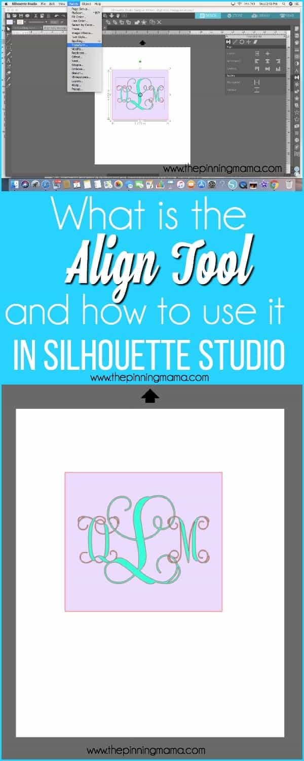 What is the Align Tool and how to use it in Silhouette Studio.